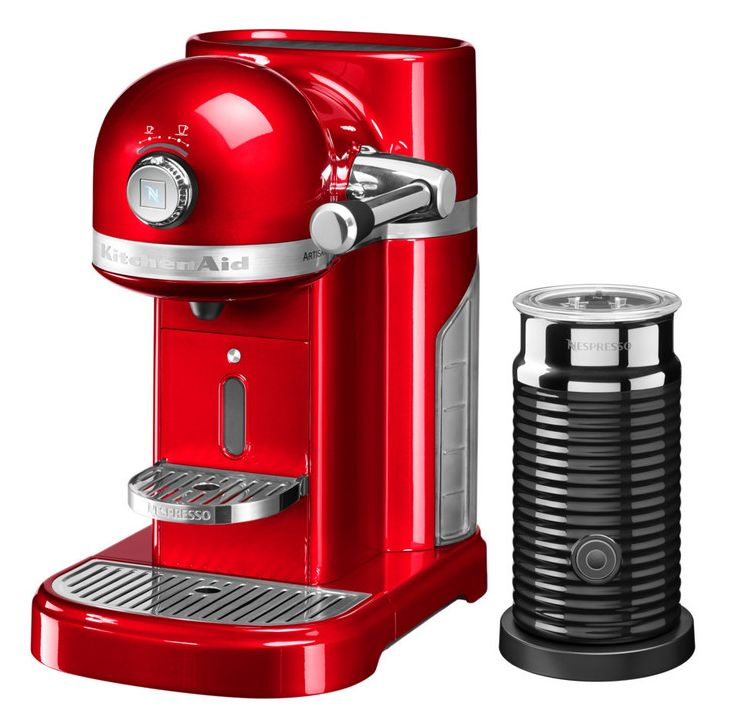 KitchenAid Nespresso & Aeroccino Machine Empire Red