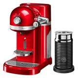KitchenAid Nespresso machine + Aeroccino Empire Red