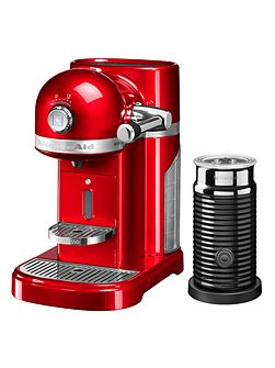 Nespresso machine + Aeroccino Empire Red
