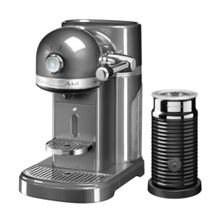 KitchenAid Nespresso Machine + Aeroccino Medallion Silver