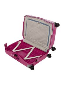 S`cure fuchsia 4 wheel cabin 55cm spinner