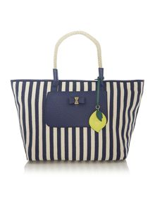 Luka navy stripe tote bag