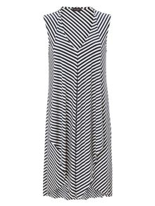 Sally stripe kaftan dress