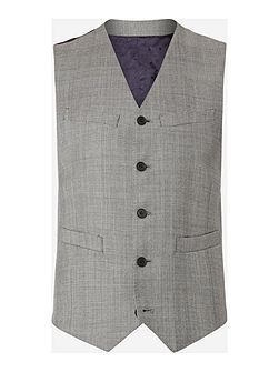 The Byard Check Mohair Slim Fit Waistcoat