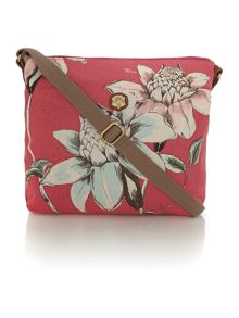 Sheila pink print cross body bag