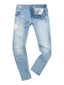 Light Wash Slim Tapered Leg Jeans