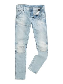 Light Wash Slim Fit Mid Rise Jeans With Knee Deta