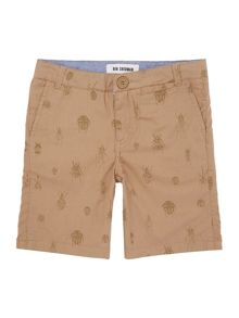 Boys Bug Print Chino Short