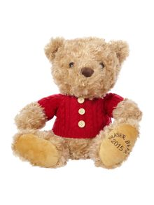 House of Fraser Fraser bear 2015 with cable knit jumper