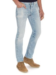 Light Wash Mid Rise Straight Jeans