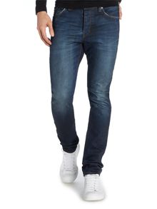 Iggy Skinny Fit Jean In Double Dark Wash