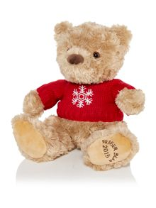 House of Fraser Small fraser bear 2015 with snowflake jumper
