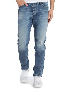 Lou Slim Tapered Jean In Road Runner Wash