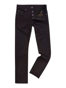 Black Slim Fit Mid Rise Jeans