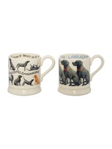 Emma Bridgewater Black Lab 2 x 1/2 Pint Mugs Boxed