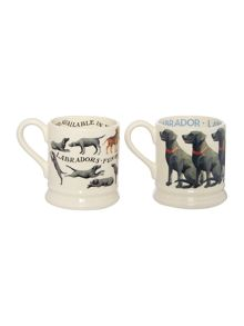 Emma Bridgewater Black Labradors Set of Two 1/2 Pint Mugs Boxed