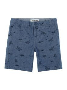 Boys Beach Print Chino Short