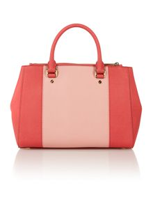 Sutton multi coloued pink medium tote bag