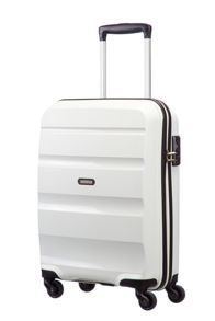 American Tourister Bon Air white 4 wheel hard cabin suitcase