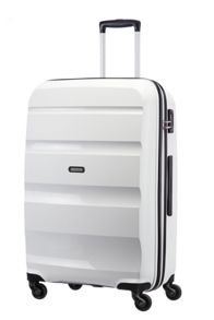American Tourister Bon Air white 4 wheel hard medium spinner