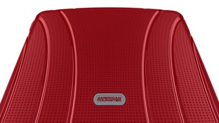 American Tourister Lock`N`Roll red 4 wheel hard large spinner