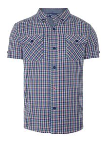 Boys Small Check Short Sleeved Shirt