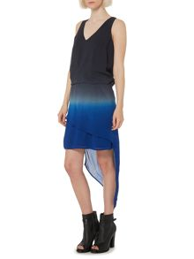 Dip dye hitch & gather dress