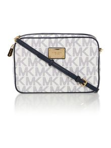 Jetset navy logo cross body bag