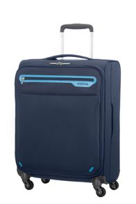 Lightway blue 4 wheel soft cabin suitcase