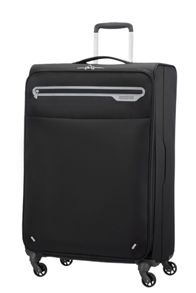 American Tourister Lightway black 4 wheel soft cabin suitcase