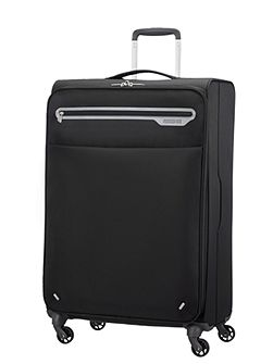 Lightway black 4 wheel soft cabin suitcase