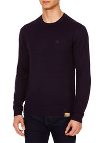 Label Lab McCann Ribbed Shoulder Detailing Crew Neck Jumper