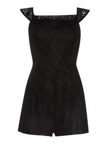 Off Shoulder Lace Playsuit