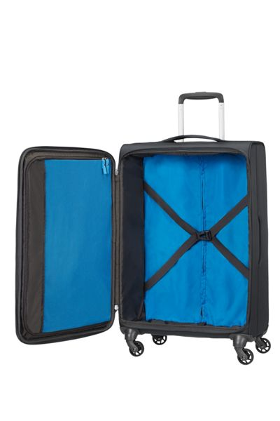American Tourister Lightway black 4 wheel soft large case