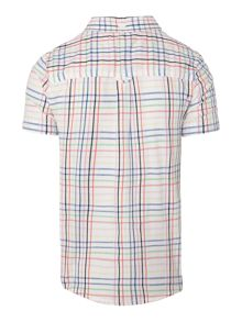 Boys short sleeved clean check shirt