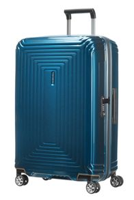 Samsonite Neo pulse metallic blue 4 wheel cabin suitcase