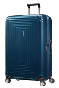 Samsonite Neo pulse metallic blue 4 wheel 65cm spinner