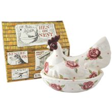 Emma Bridgewater Rose & Bee Hen on Nest Boxed
