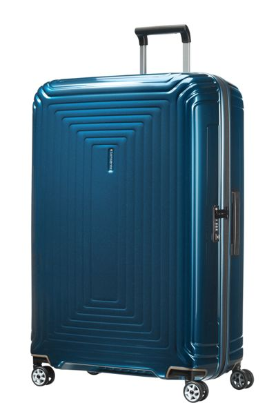 Samsonite Neo pulse metallic blue 4 wheel 81cm spinner