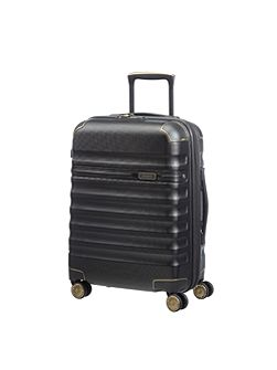 Splendor black 8 wheel 55cm cabin suitcase