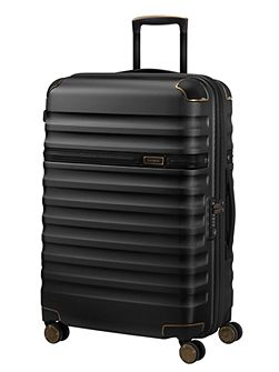 Splendor black 8 wheel 68cm medium suitcase