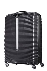 Samsonite Lite-Shock black 4 wheel 75cm spinner