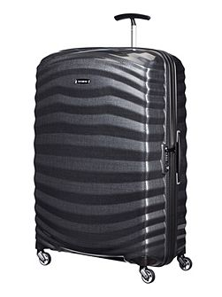 Samsonite Lite-Shock black 4 wheel 81cm spinner