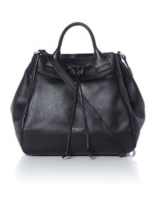 Holland Park black drawstring  crossbody bag