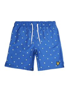 Boys Brocken Box All Over Print Swim Shorts