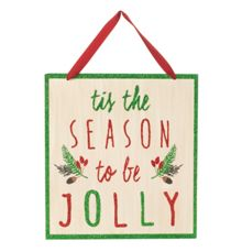 `Tis the season to be jolly` sign