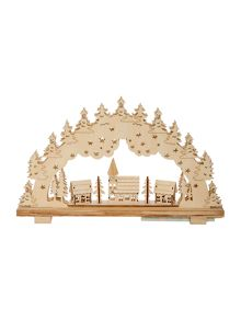 Wooden arch light up decoration