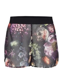 cl shadow floral shorts