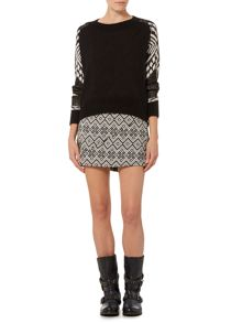 Label Lab Patterned sleeve jumper