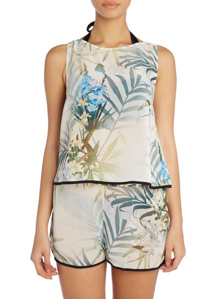 Ted Baker Twilight floral cropped top